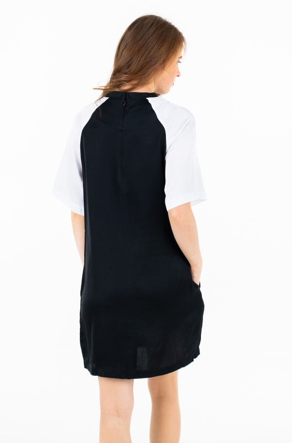 COLOR BLOCK T SHIRT DRESS-hover