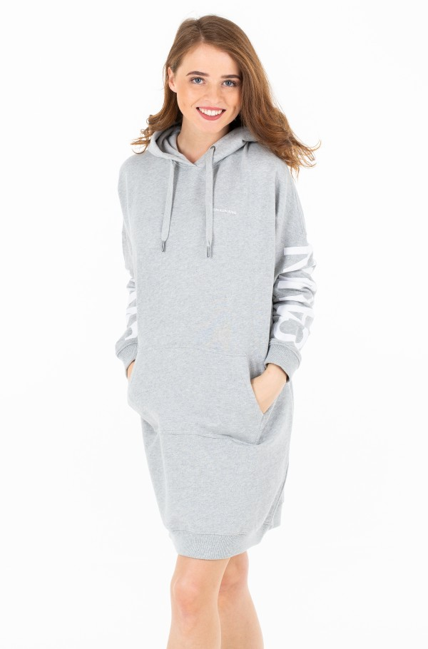 INSTITUTIONAL BACK HOODED DRESS