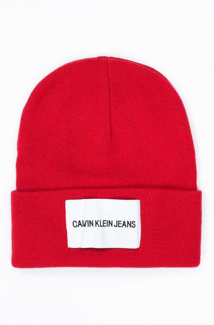 581e20f3698 red1 Hat J CALVIN KLEIN JEANS BEANIE M Calvin Klein