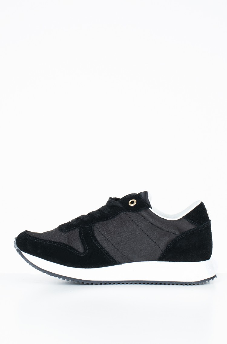 75861871f0297 black Sneakers SPARKLE SATIN CITY SNEAKER Tommy Hilfiger, Womens ...