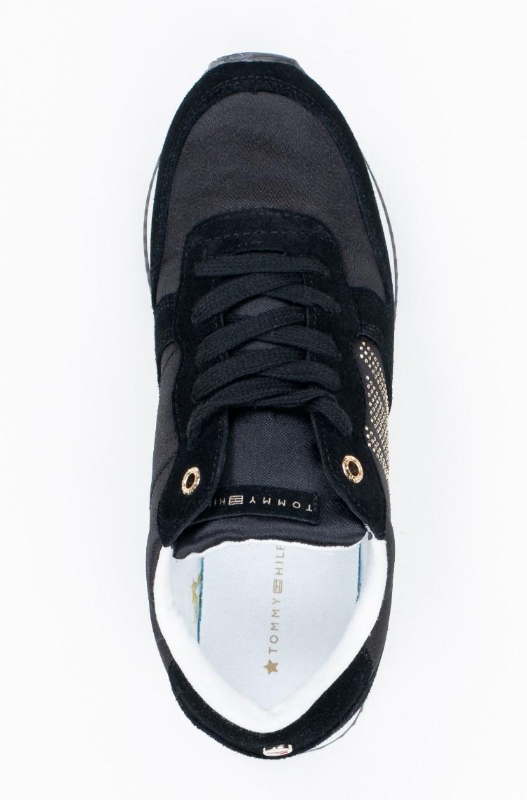 3d21e05d8 black Sneakers SPARKLE SATIN CITY SNEAKER Tommy Hilfiger