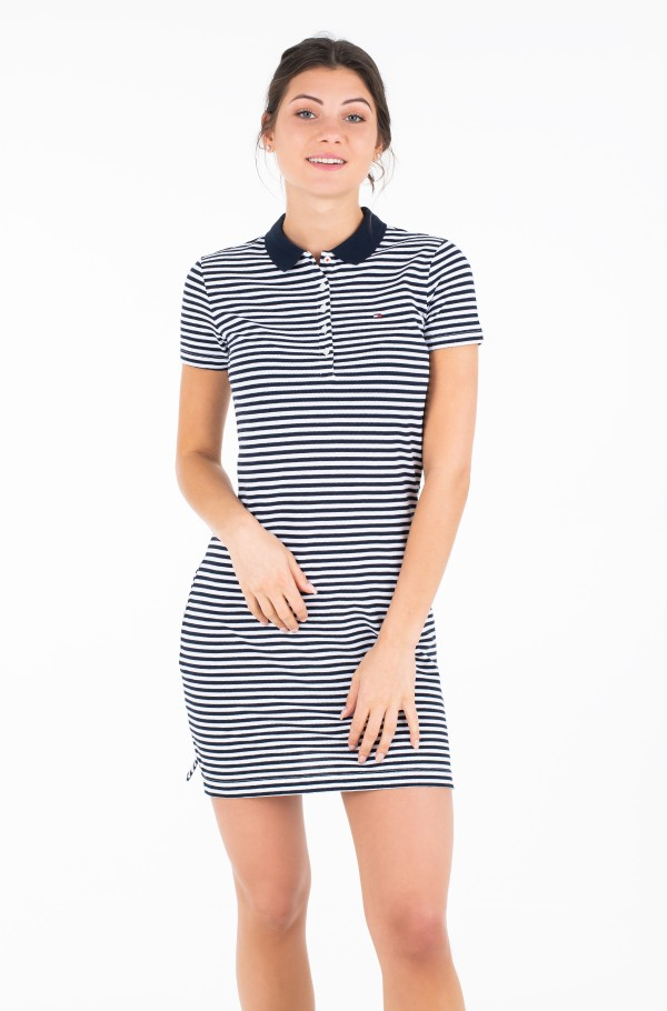 NEW CHIARA STR PQ POLO DRESS SS