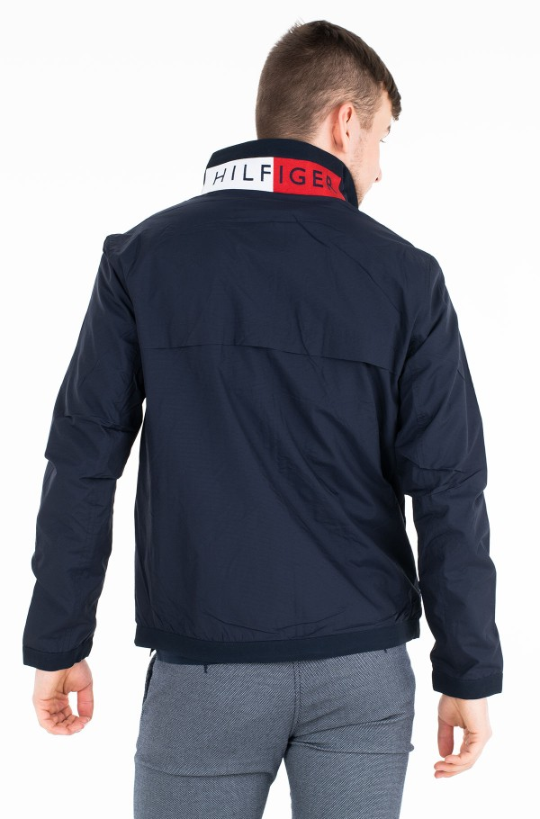 RED WHITE ZIP JACKET-hover