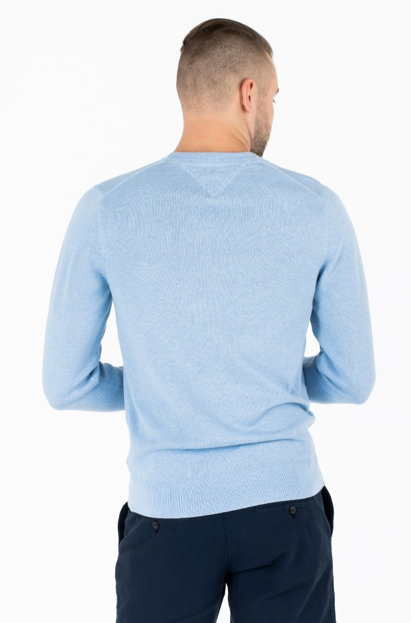 COTTON SILK CREW NECK-hover