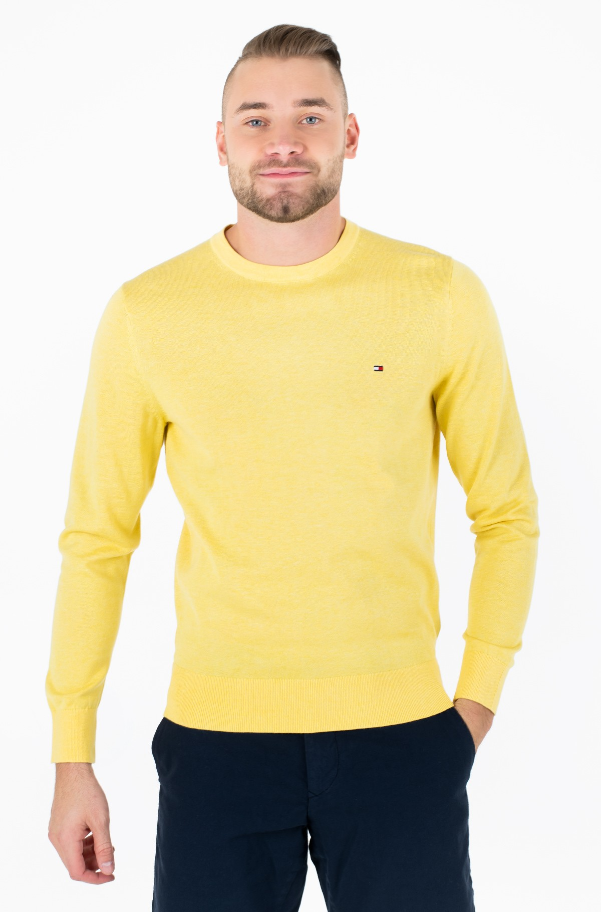 Džemperis COTTON SILK CREW NECK	-full-1