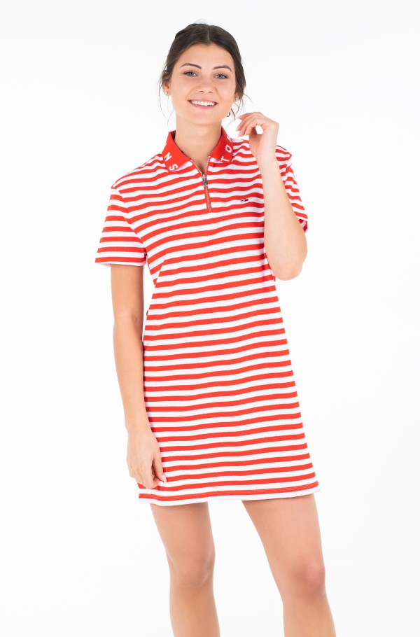 TJW ESSENTIAL STRIPE POLO DRESS