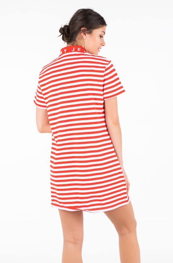 TJW ESSENTIAL STRIPE POLO DRESS-hover