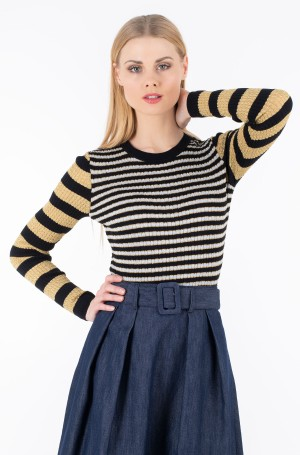 Džemperis ZENDAYA STRIPE LUREX TOP LS-1