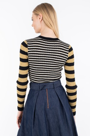 Džemperis ZENDAYA STRIPE LUREX TOP LS-2