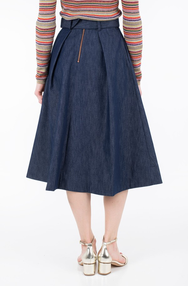 ZENDAYA TAILORED DENIM SKIRT-hover