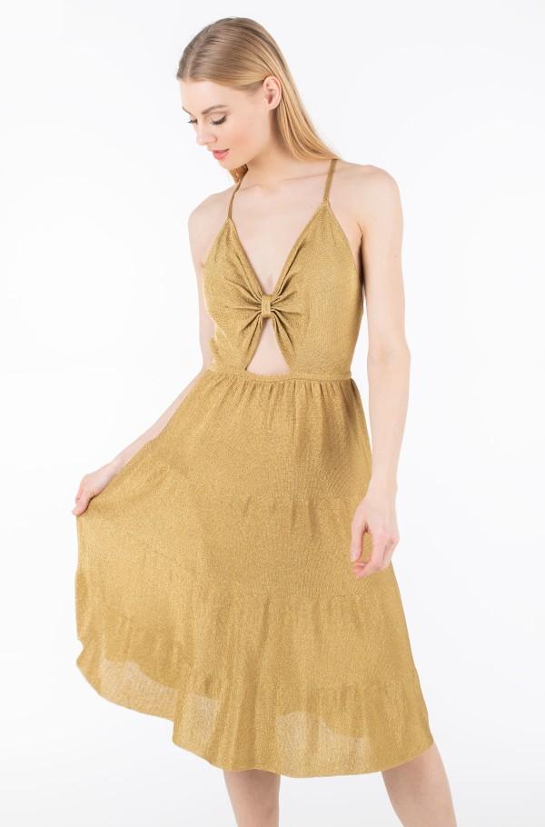 ZENDAYA LUREX TIE FRONT DRESS