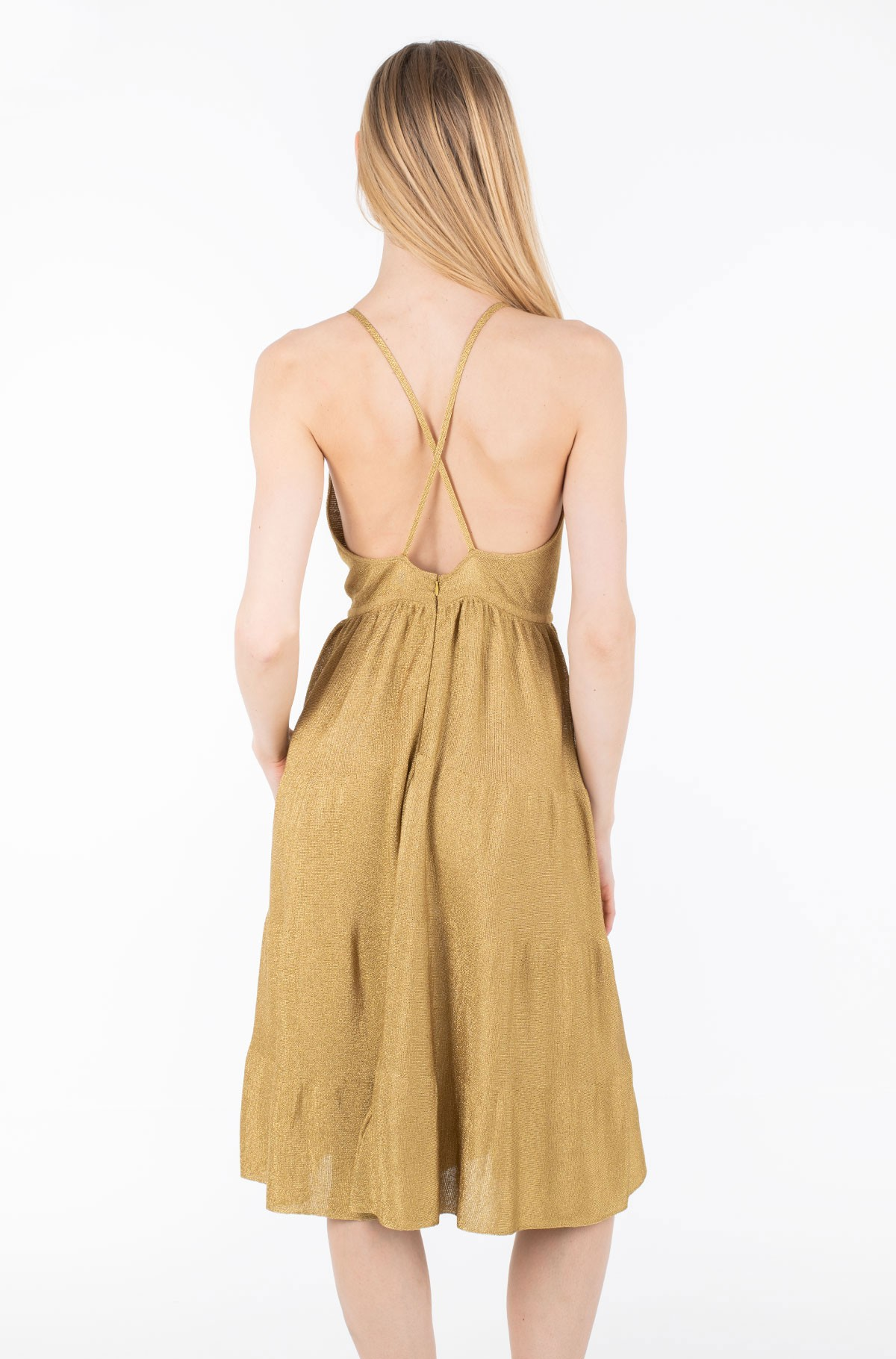 Suknelė ZENDAYA LUREX TIE FRONT DRESS-full-2