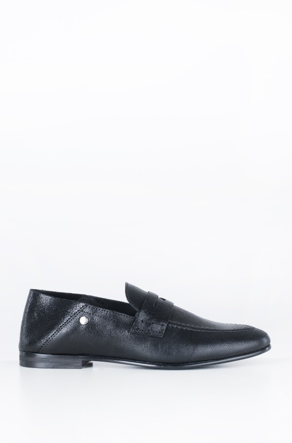 CRACKLE METALLIC FLAT LOAFER