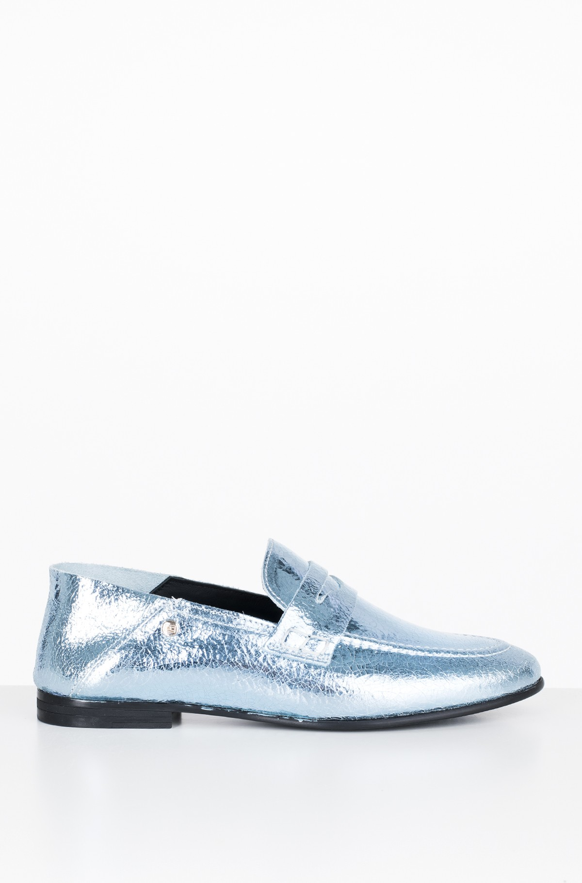 Mokasinai  CRACKLE METALLIC FLAT LOAFER	-full-1