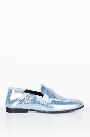 Moccasins  CRACKLE METALLIC FLAT LOAFER	-1