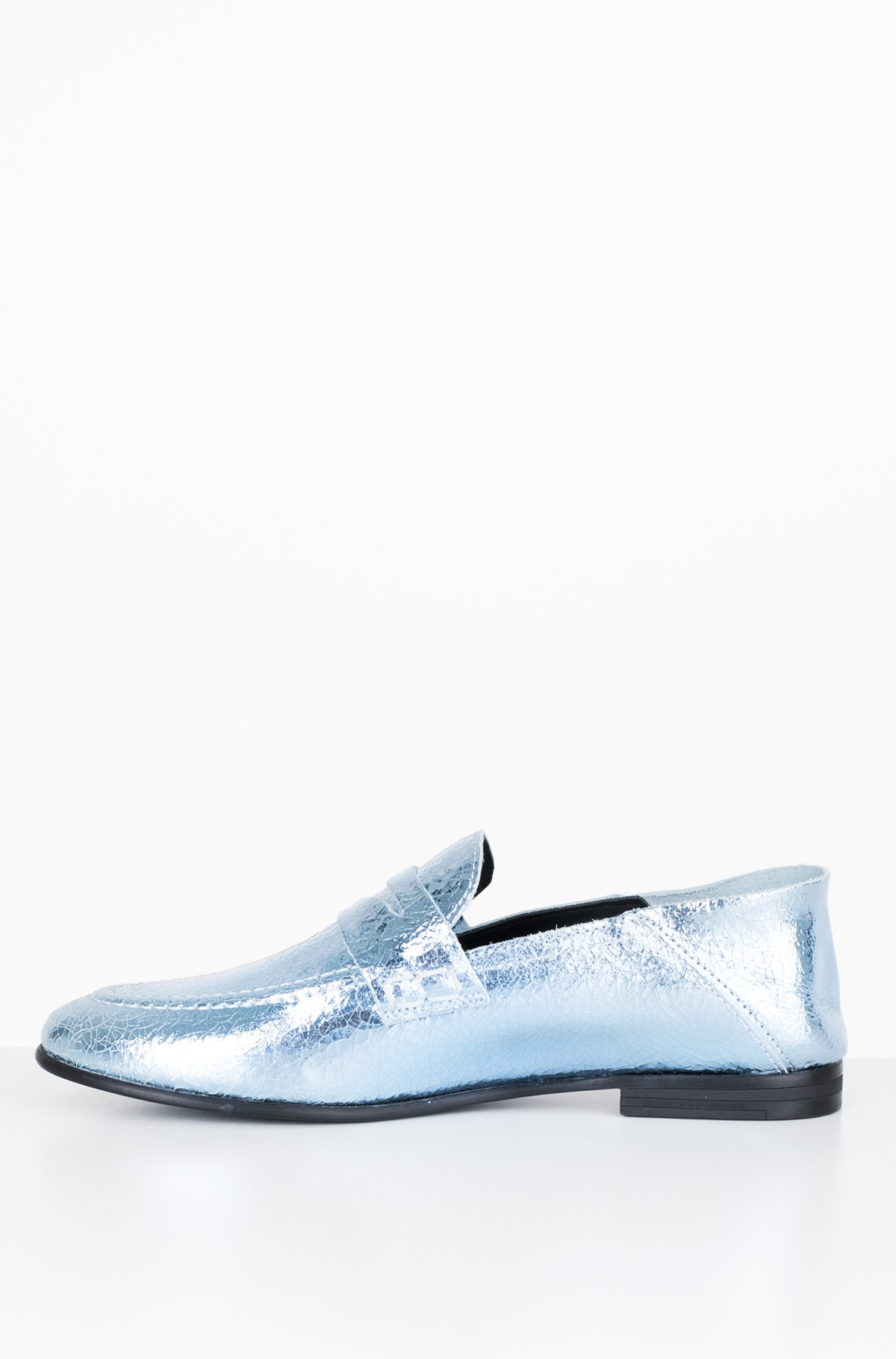Mokasinai  CRACKLE METALLIC FLAT LOAFER	-full-2