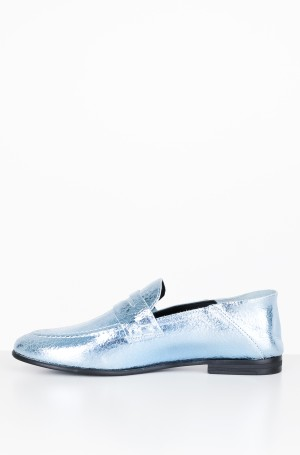 Moccasins  CRACKLE METALLIC FLAT LOAFER	-2