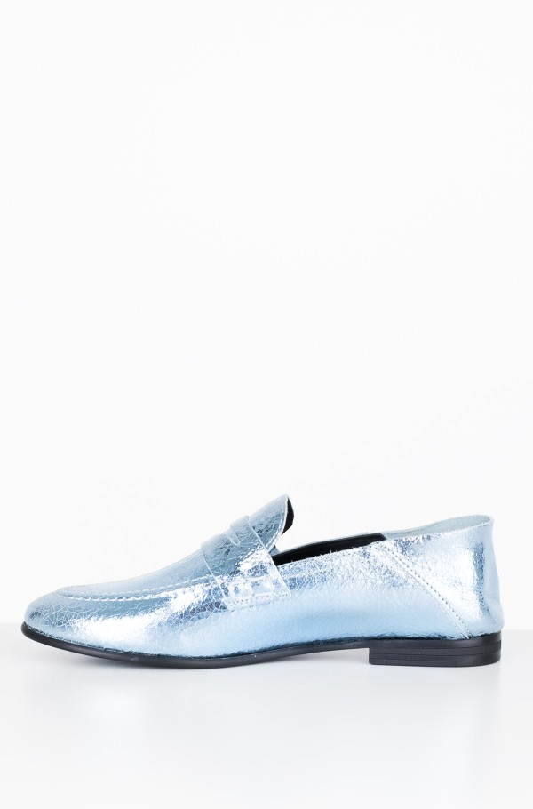 CRACKLE METALLIC FLAT LOAFER-hover