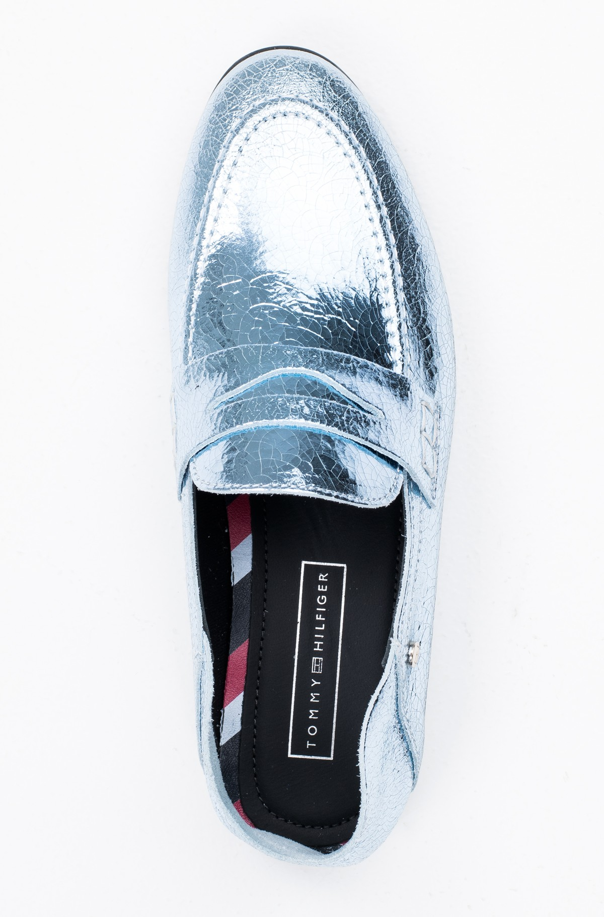Mokasinai  CRACKLE METALLIC FLAT LOAFER	-full-3