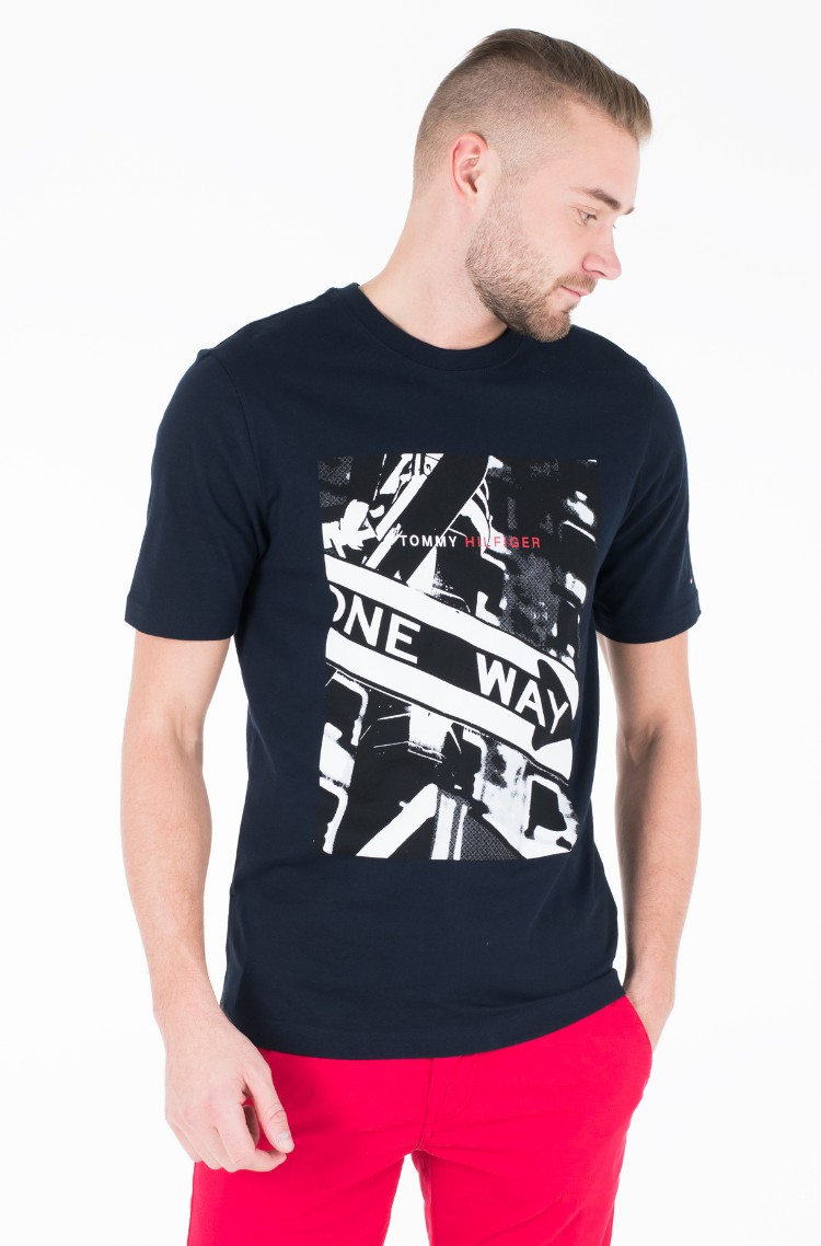 38bfd244b Blue T-shirt ONE WAY PHOTO PRINT RELAX TEE Tommy Hilfiger, Mens ...