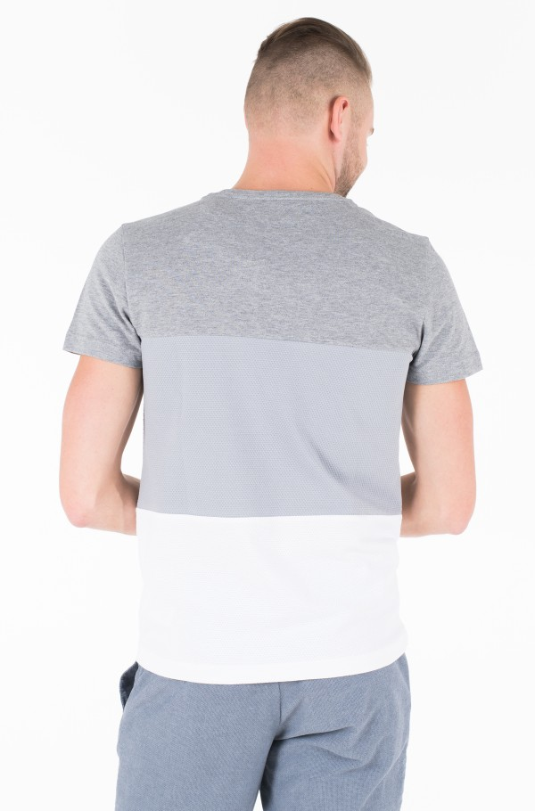 COLOUR BLOCK TEXTURE TEE-hover