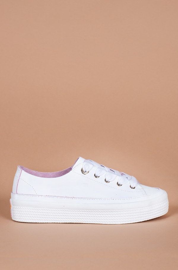LEATHER FLATFORM SNEAKER