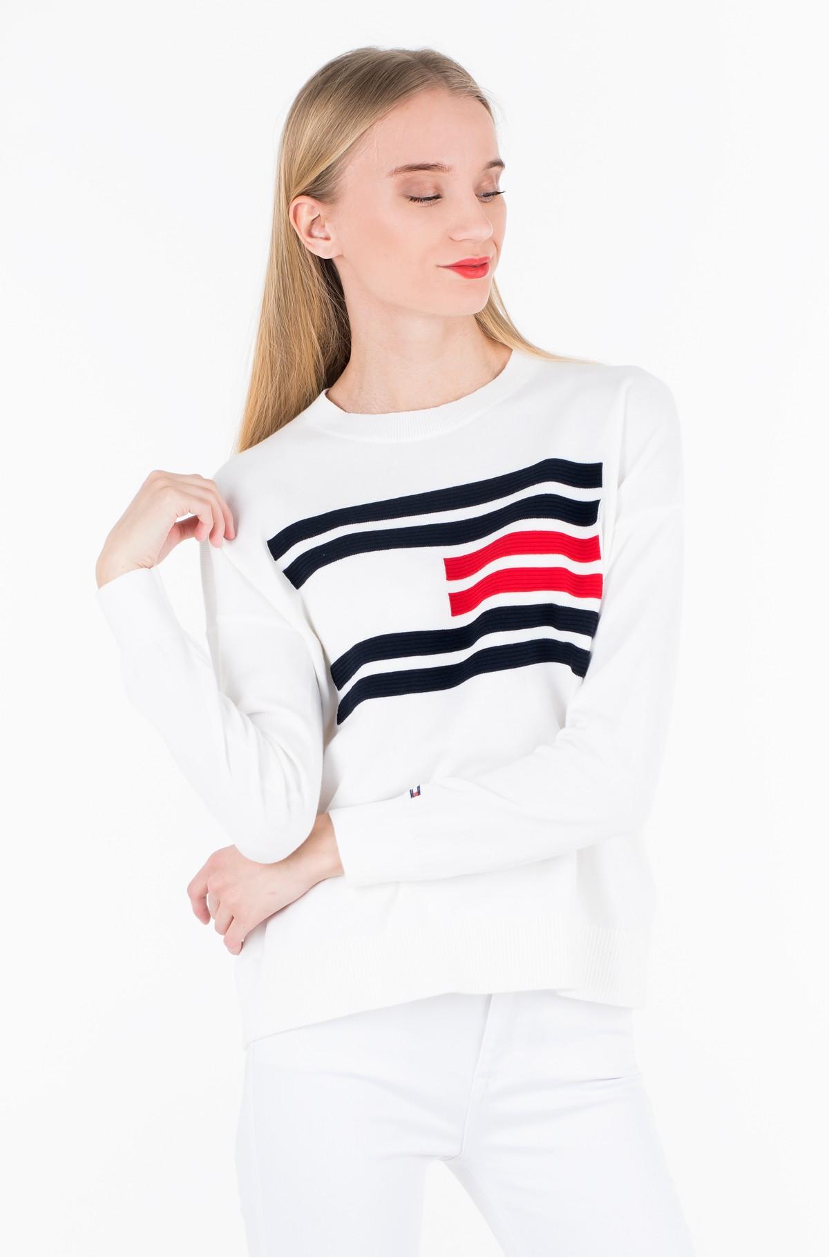 Džemperis TH ESSENTIAL FLAG SWEATER-full-1