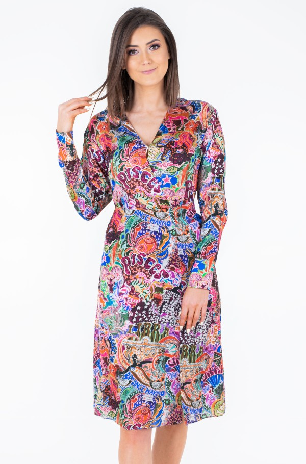 ZENDAYA WRAP DRESS LS