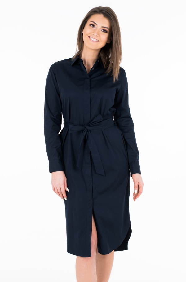 TH ESSENTIAL MIDI SHIRT DRESS LS