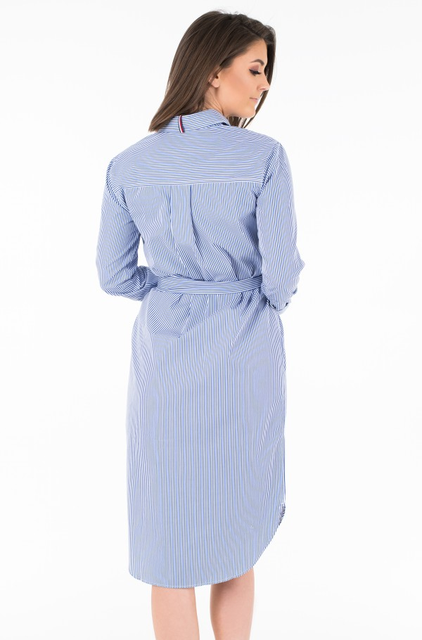 TH ESSENTIAL MIDI SHIRT DRESS LS-hover