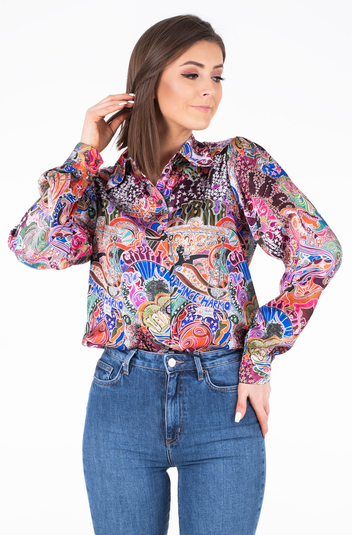Pluus ZENDAYA SATIN SHIRT LS-full-1