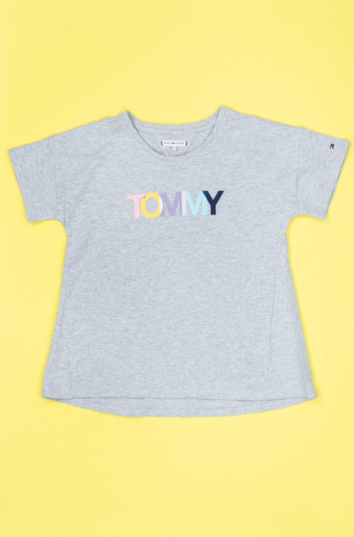 Vaikiški marškinėliai trumpomis rankovėmis COLORED TOMMY LOGO S/S-full-1