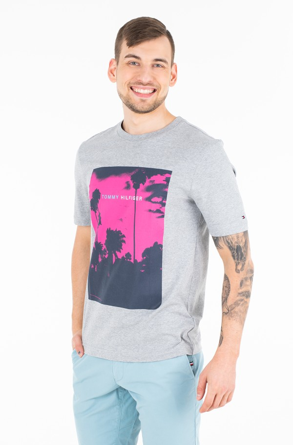 PALM PHOTO PRINT  RELAX FIT TEE