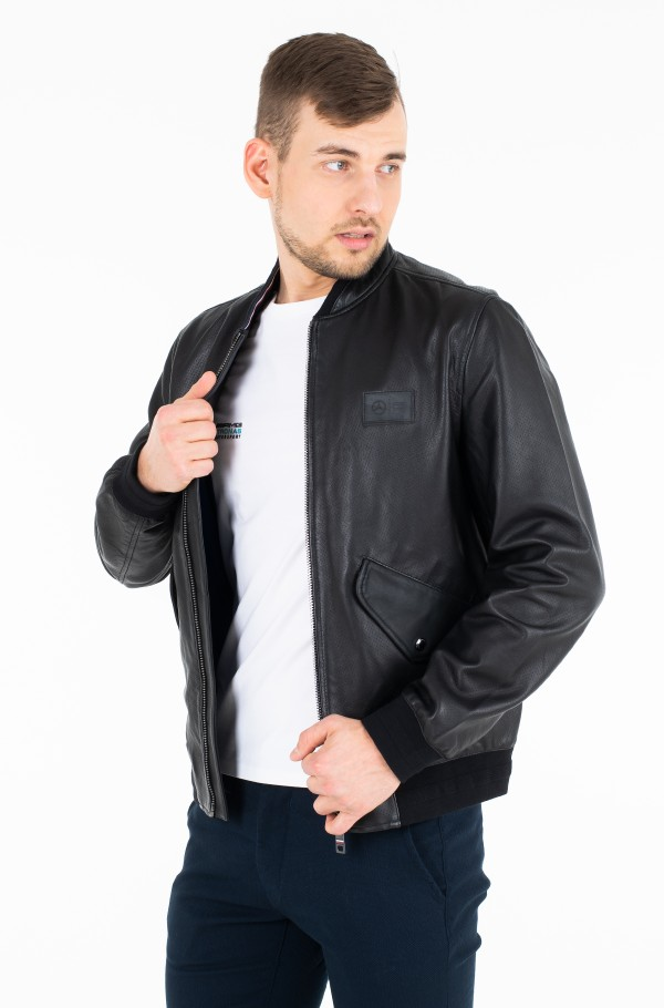 2 MB PERFORATED LEATHER BOMBER-hover