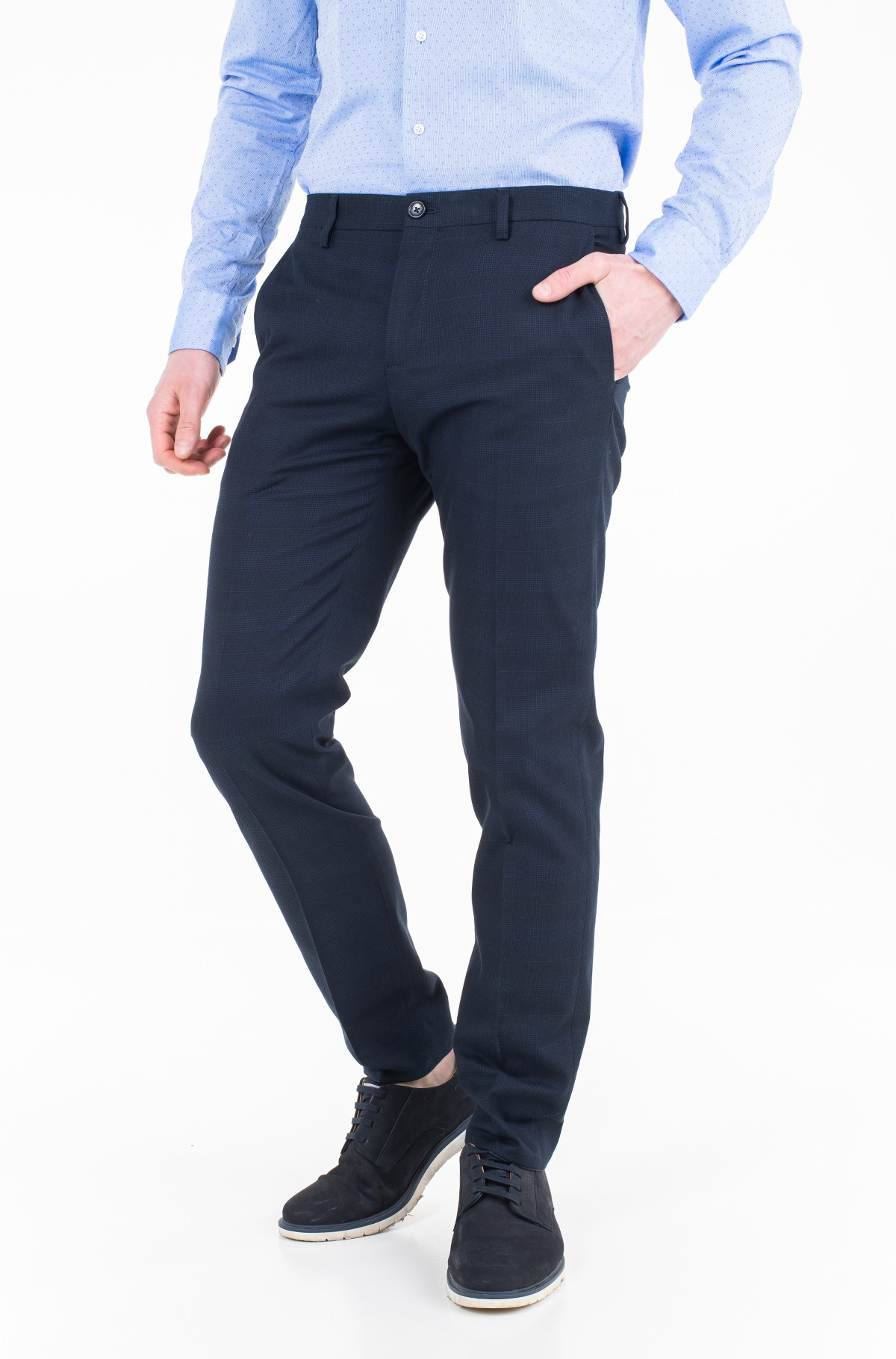 Trousers COTTON CHECK SLIM FIT PANTS-full-1