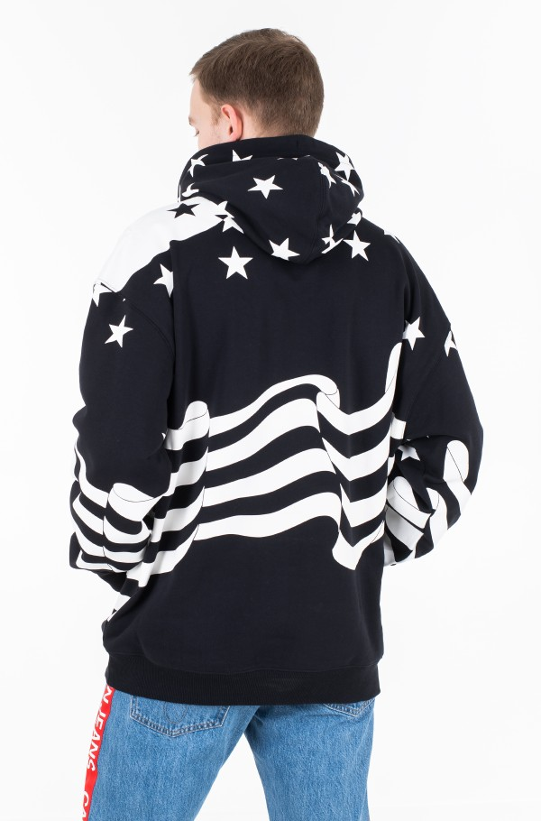 ABSTRACT FLAG HOODIE-hover