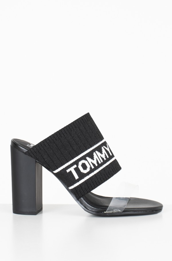 KNIT TOMMY JEANS HEELED SANDAL