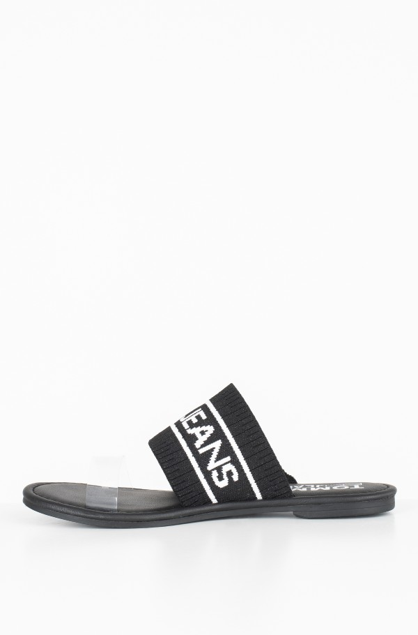 KNIT TOMMY JEANS FLAT SANDAL-hover