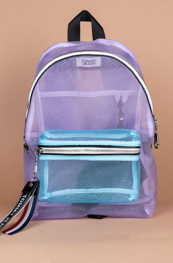 TJU LOGO TAPE MINI BACKPACK MESH