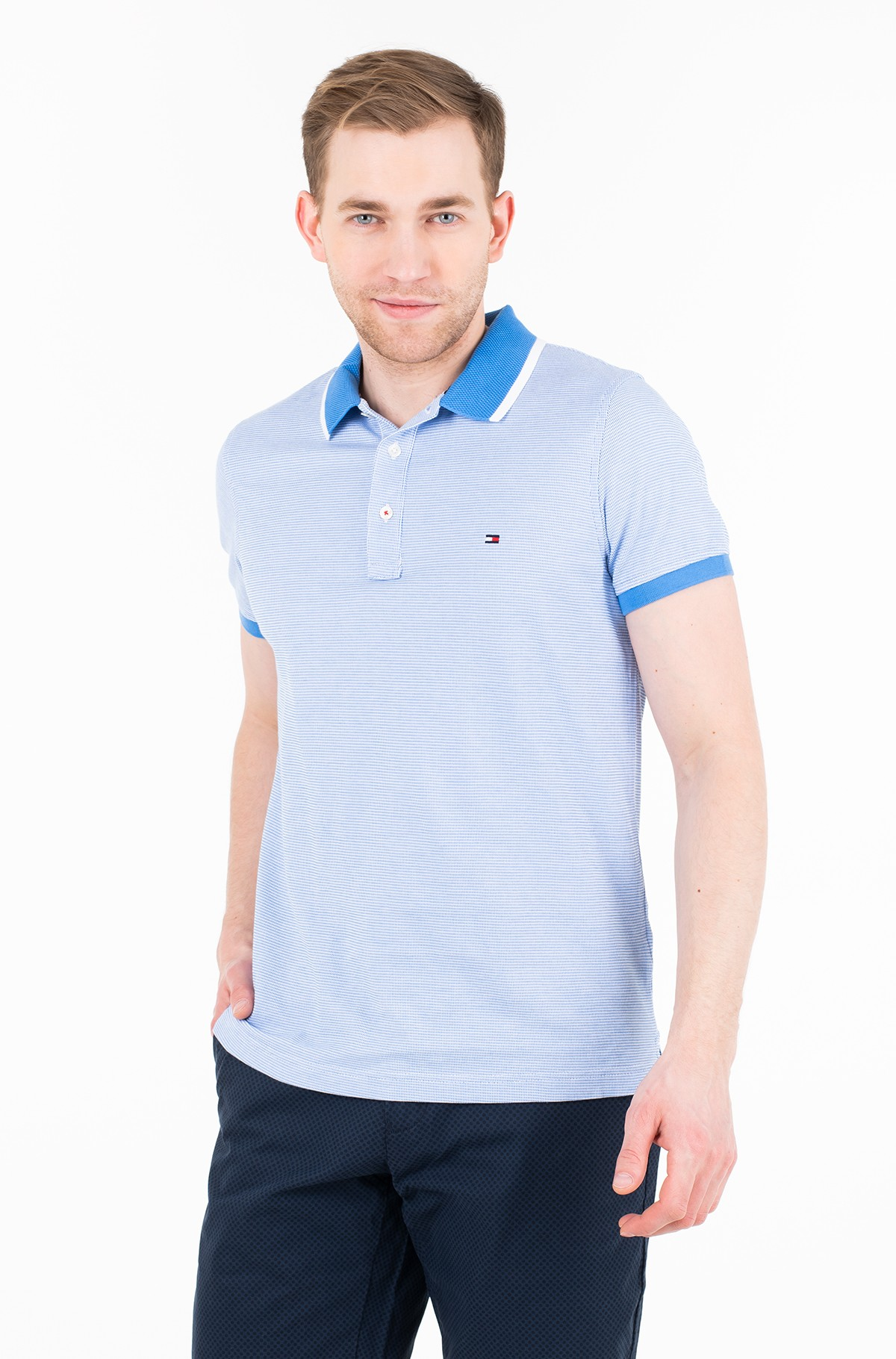 Polo JACQUARD STRUCTURED SLIM POLO-full-1