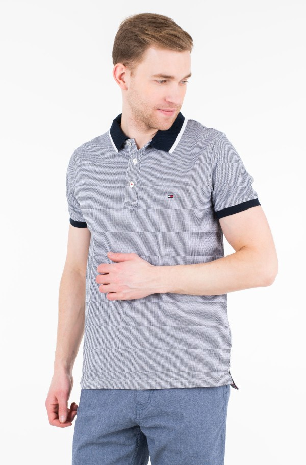 JACQUARD STRUCTURED SLIM POLO
