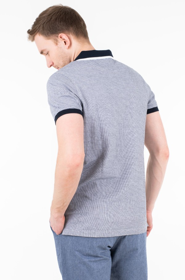 JACQUARD STRUCTURED SLIM POLO-hover