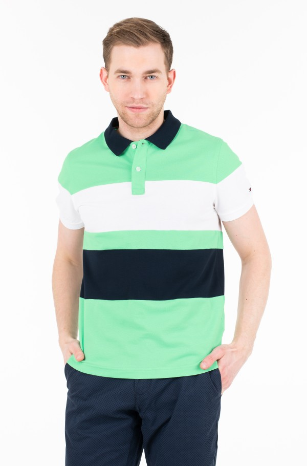 C&S STRIPE SLIM POLO