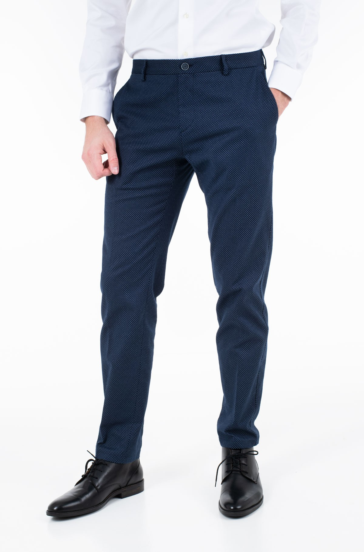 Trousers COTTON STRETCH SLIM FIT PANTS-full-1