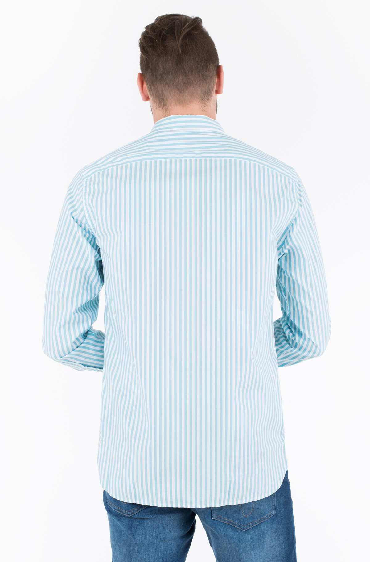 Triiksärk ORGANIC OXFORD STRIPE SHIRT	-full-2