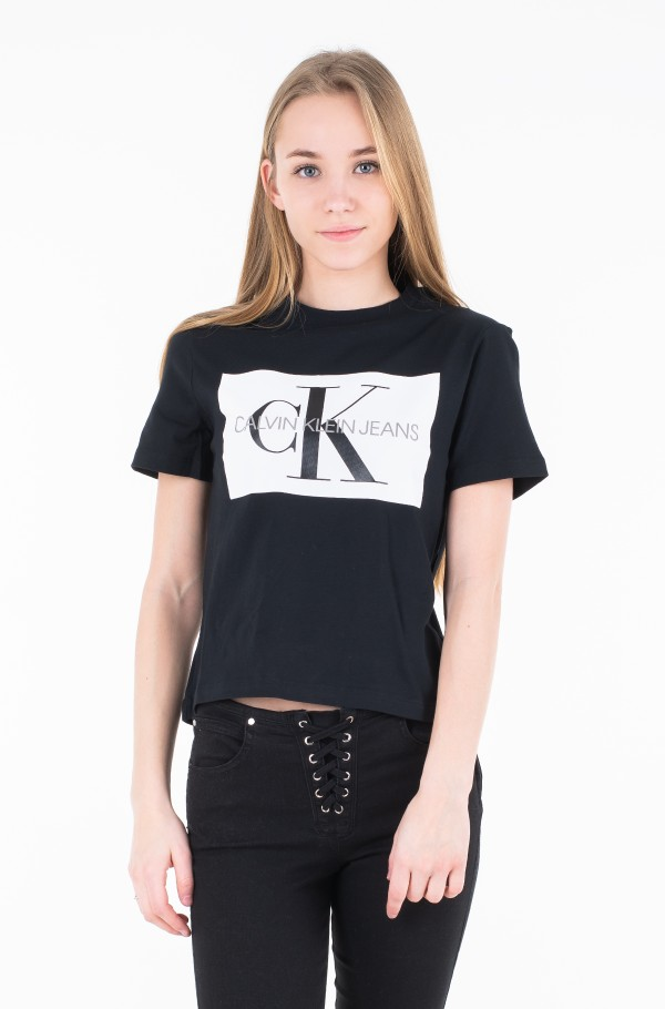 ICONIC MONOGRAM BOX STRAIGHT TEE