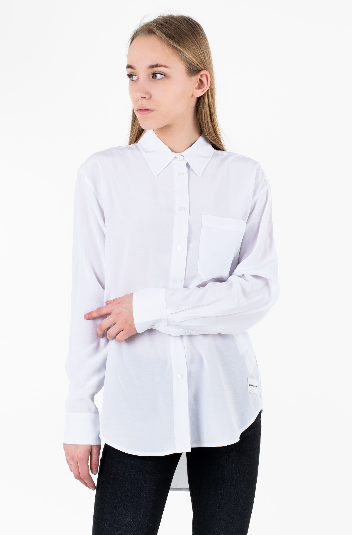 Pluus DRAPEY RELAXED SHIRT LS-full-1