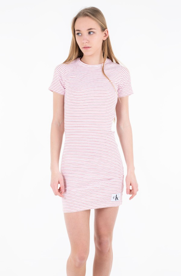RIB SHORT SLEEVE DRESS
