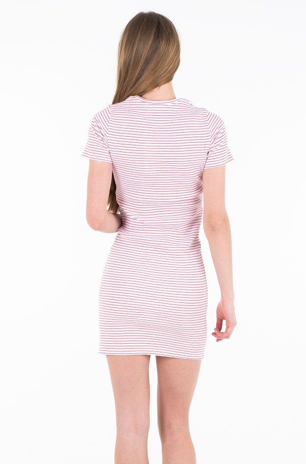 RIB SHORT SLEEVE DRESS-hover