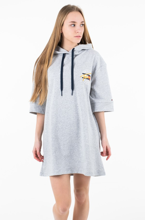 TJW LOGO HOODIE DRESS SHORT SLV